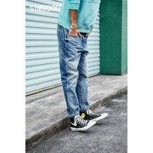 Simwood 2020 calças de brim dos homens tornozelo comprimento calças moda magro ajuste de alta qualidade denim calças marca roupas frete grátis 190030