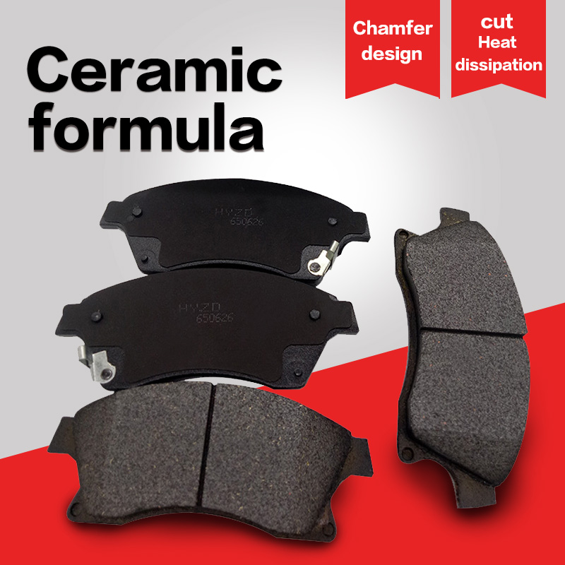 For Audi RS6 Base Front Disc Brake Pads Brembo Chamfered Semi-Met w// Wear Sensor