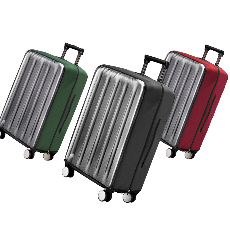 1f36d8503 PVC transparente maleta equipaje cubierta elástico cubiertas para 19-32  Trolley equipaje de polvo cubierta protectora accesorios de viaje