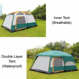 Image 5 - 8 10 12 Person Large Camping Tent Waterproof Family Tents for Outdoor Double Layers Event Luxury Camping Tents