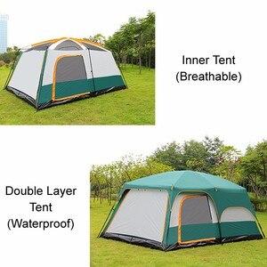 Image 5 - Большая туристическая палатка, на 8 10 12 человек, водонепроницаемая семейная палатка для отдыха на открытом воздухе, двухслойная, для мероприятий, роскошная, для кемпинга