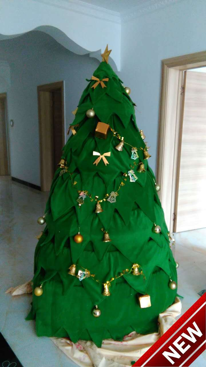 The Christmas tree green mascot costumes 100% real picture ...