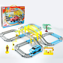Baidu Electric Track Toy Car Diy Assembly Track Hot Selling Children's Puzzle Electric Toys Model Train Gift for Boy Kid стоимость