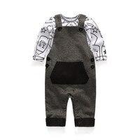 Spring Autumn Season Infant Wearing Set New Born Gift Baby Boy Romper Suit