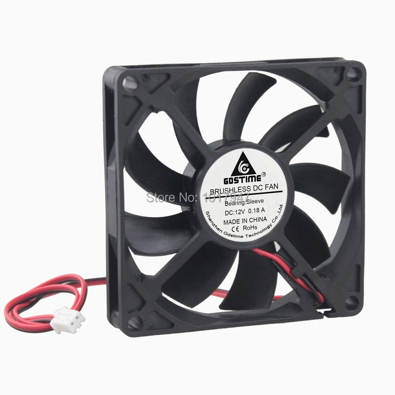 20Pieces lot Gdstime DC 12V 2Pin 8cm 80mm x 15mm 8015 Brushless Cooling Cooler Fan-in Fans & Cooling from Computer & Office    3