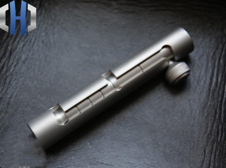 EDC Titanium Alloy Tungsten Steel Attack Telescopic Broken Window Hit Tool Key Pendant
