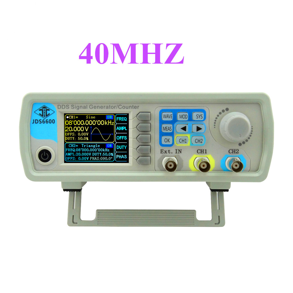 JDS6600 series DDS signal generator 40M Digital Dual channel Control frequency meter Arbitrary sine Waveform 38