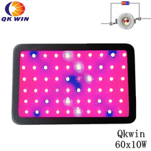 Hot Qkwin 600W Led grow light 60x10W high power double chip led UV & IR hydroponics lighting system full spectrum france warehouse dropshipping qkwin 600w 1000w led grow light with double chip 10w full spectrum led grow light