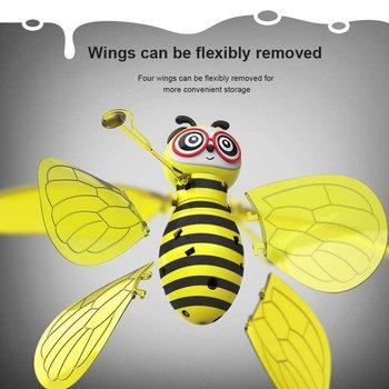 Cartoon Bee Mini Drone Infrarood Inductie Hand Control UFO Hoogte Hold RC Training Drone RC Quadcopter voor Kinderen Kids 1
