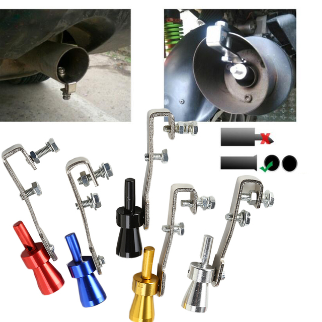 US $2 92 15% OFF|23mm Medium Universal Car Exhaust Turbo Sound Whistle  Muffler Exhaust Pipe Simulator Whistler 5 Colors to Choose-in Mufflers from