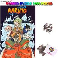 MOMEMO Naruto Puzzel 1000 Stukjes Puzzel Houten Volwassenen Puzzel Zevende Klasse Kakashi Naruto Sasuke Sakura Puzzel Speelgoed Geschenken-in Puzzels van Speelgoed & Hobbies op