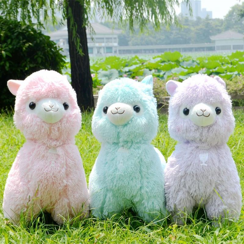1PC 35/45CM Lovely  Japanese Alpaca Soft Toys Doll Kawaii Sheep Alpaca Plush Stuffed Animals Toys Kids Christmas Gifts