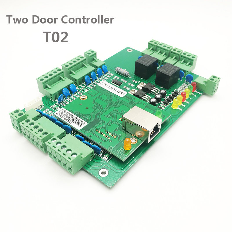 Wiegand RFID Two Door Access Control System 2 Door Access Control Panel TCP/IP  Door Security Access Controller T02Wiegand RFID Two Door Access Control System 2 Door Access Control Panel TCP/IP  Door Security Access Controller T02