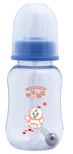 freeshipping hot Brand New BPA Free Polypropylene (PP) Natural Flow Feeding baby Bottle with Handle CE SGS FDA