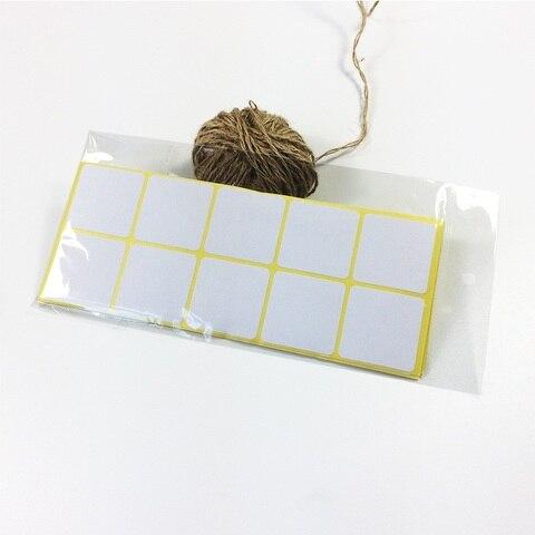 quadrado kraft em branco adesivo vedacao