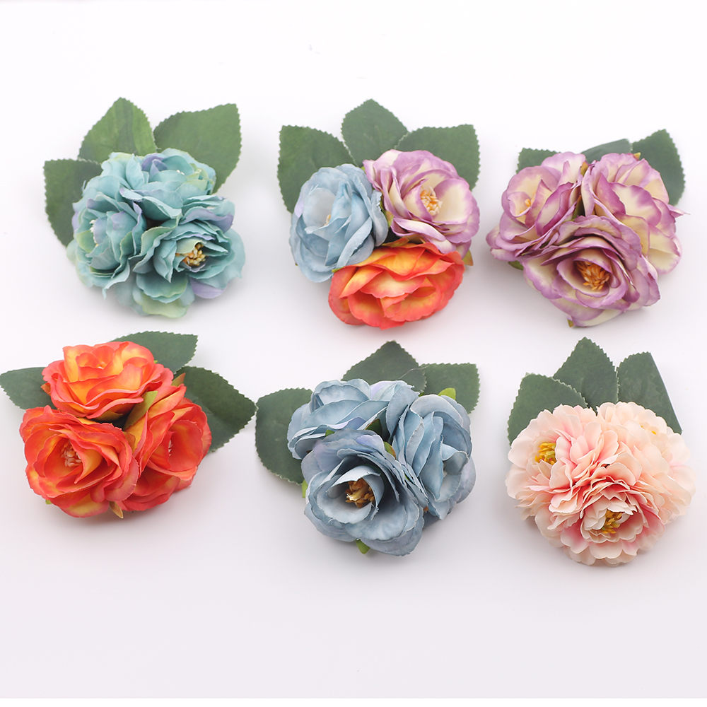 Fabric Camellia Flower Brooches Handmade Costume Accessories Brooches headdress brooch for kids girls