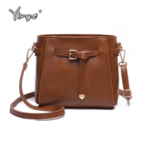 YBYT Brand New Vintage Casual Women Bucket Bag PU Leather Satchels Preppy Style Messenger Package Ladies