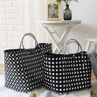woven vegetable basket Large basket storage basket basket Shopping basket woven handbag shopping bag
