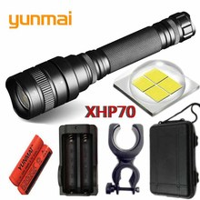 yunmai 2019 NEW arrive convoy lens 30w xlamp xhp70.2 18650 4800lm powerful Tactical LED flashlight torch zoom xhp70 Lantern