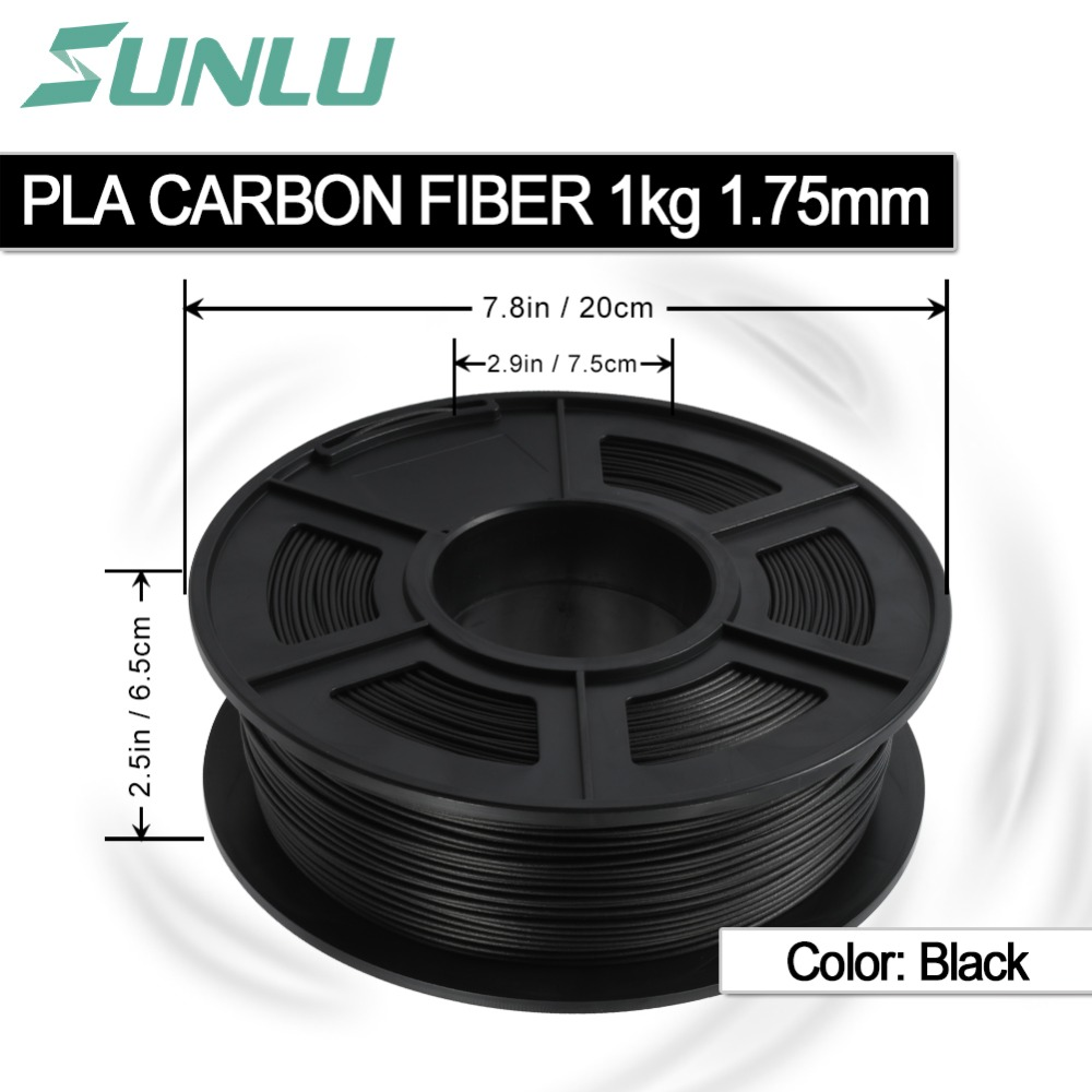 SUNLU non pollution 3D Printer Filament 1 75mm 1kg PLA Carbon Fiber filament support 3d printer