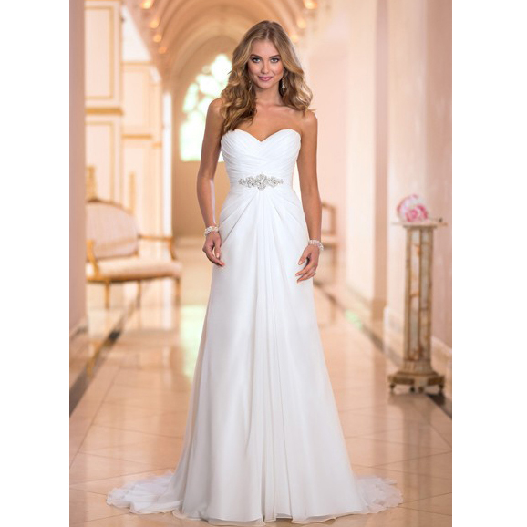 In stock vestido de casamento us size 4 22 new white ivory for Us size wedding dresses