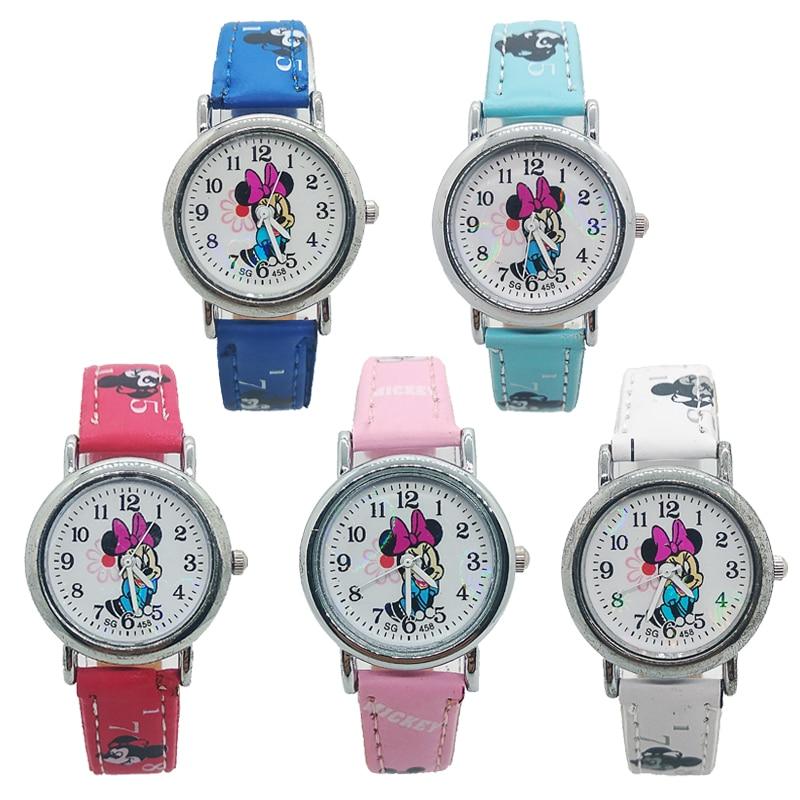2020 New Fashion Leather Children Watch For Girls Women Casual Kids Watches For Boys Clock Birthday Gift Child Quartz Wristwatch