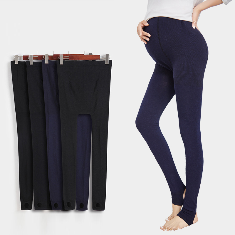 2017 spring colorful cotton seamless thin maternity belly pants one piece pants step on the foot legging trousers  Счастье