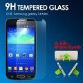 Prêmio de vidro temperado protetor de tela para samsung galaxy s4 mini vidro temperado proteger filme para samsung s4 mini tampa frontal