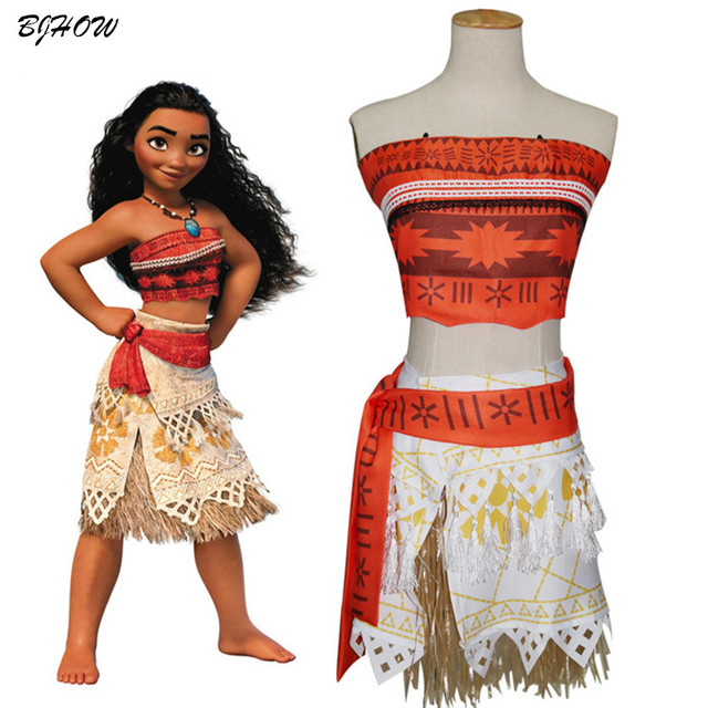BJHOW Moana Costume kids Girl 2017 Sexy Princess Moana Halloween ...