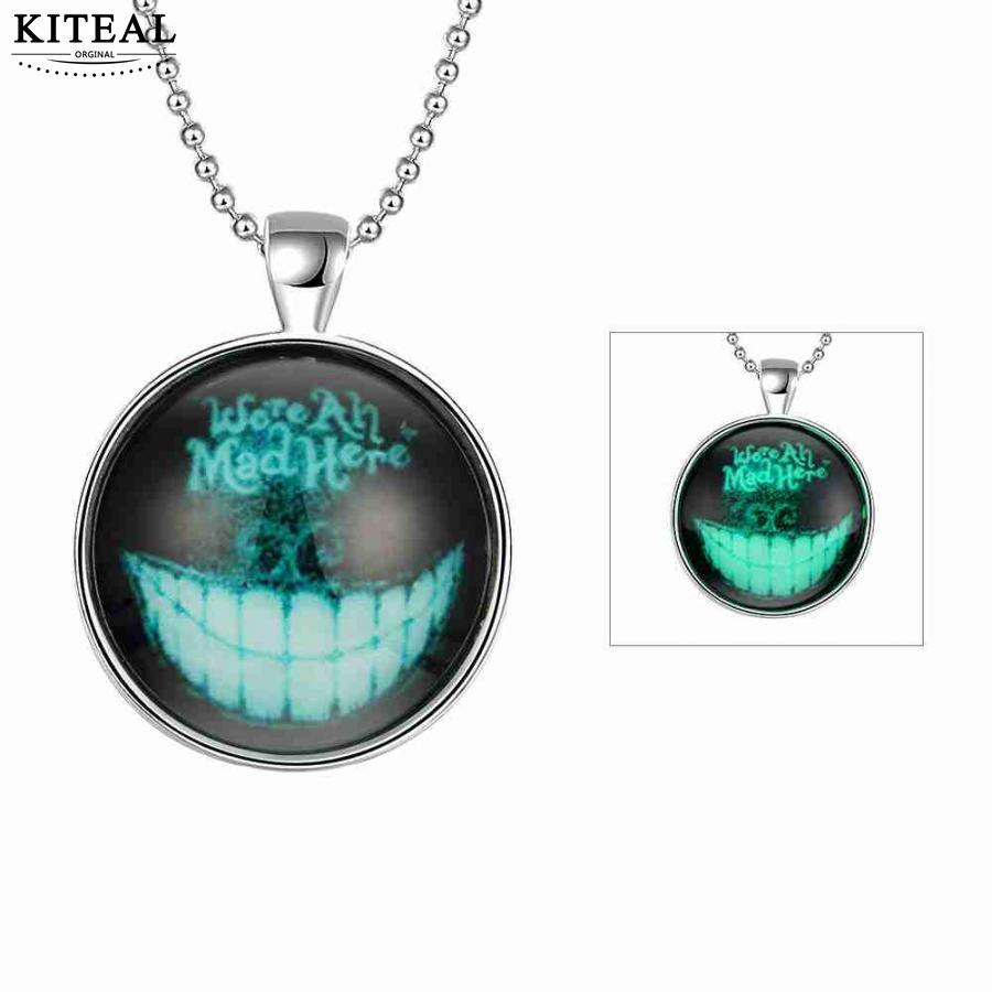 KITEAL Newest Nightlight jewelry Clear Male and Female pendant Tooth glow in the dark bisuteria collier plastron
