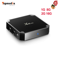 X96 Mini Android 7 1 Smart TV Box Amlogic S905w Quad Core 1G8G 2G16GB 2 4G