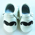Genuine Leather Baby shoes The design is novel beard Toddler Baby moccasins fringe Shoes First Walkers Free shipping