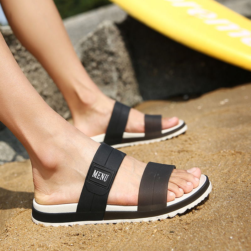 LAISUMK Summer Beach Men Slippers Casual Shoes Double Buckle Man Slip on Flip Flops Flats Camouflage Flip Flop Indoor & Outdoor 89