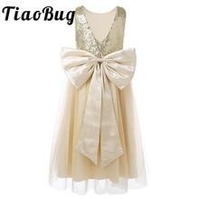 Платья для маленьких девочек с цветочным узором на свадьбу; детское торжественное платье с блестками и бантом для вечеринки; Детские платья из тюля для выпускного вечера, первого причастия