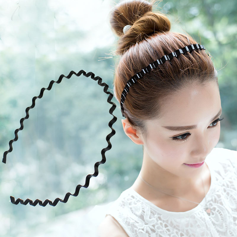 Simple fashion alloy iron wavy hair hoop collar Headband   headwear   Hairbands for woman girls Bezel Accessories Headdress Headwrap