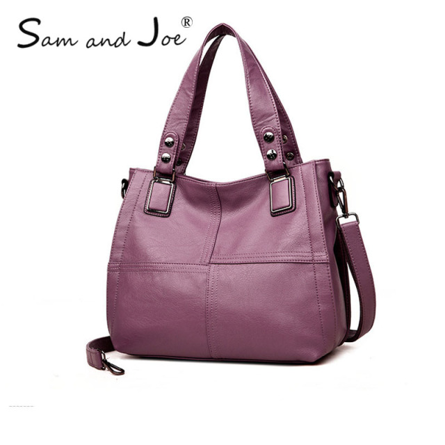 df90fdfbf06d 2019 Brand 100% Genuine Leather Tote Bags Women Large Female Big Shoulder  Bag Ladies Luxury Handbags Women Bags Designer sacGray