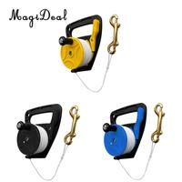 Compact Scuba Diving Reel Kayak Anchor & Handle, 83m Line, Thumb Stopper, Brass Double Ended Bolt Snap Equipment 3 Colors