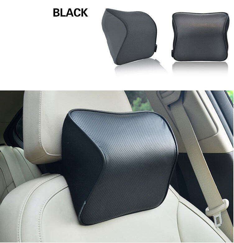 1pcs Neck support pillow leather+memory cotto Car pillow ...