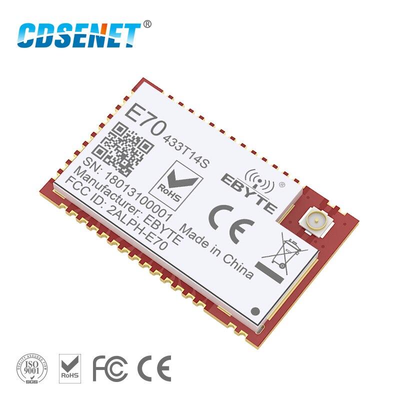 CC1310 433 Mhz módulo rf inalámbrico CDSENET E70-433T14S SOC SMD IOT rf transmisor receptor 433 Mhz transceptor