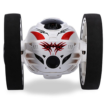 rc car Mini Bounce 2.4GHz RC Bounce Car with Flexible Wheels Rotation LED Light Remote Robot Car remote control car radio 360