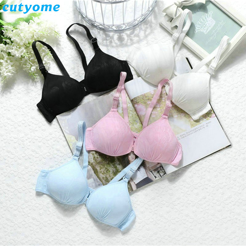 4pcs/lot Sale 2017 Soft Kids Puberty Girls Bras Wireless Thin Cup Small Teenage Younge G ...