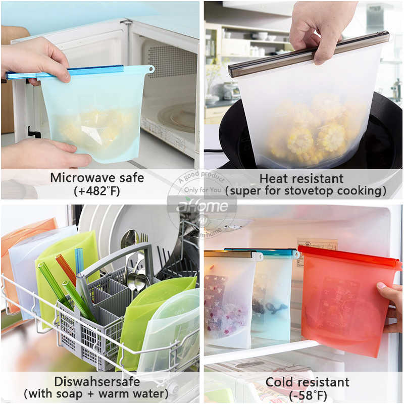 Food Fresh Bags Plastic Wraps Fridge Food Liquid Milk Storage Containers Refrigerator Bag Fresh Keeping bags  Kitchen Supplies