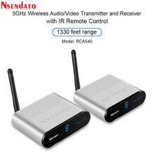 Measy AV540 5.8G Wireless AV משדר מקלט אודיו וידאו טלוויזיה AV אות שולח מקלט עם IR Romote 400M /1330FT עבור sd