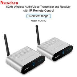 Measy AV540 5.8G Wireless AV Transmitter Receiver Audio Video TV AV Signal Sender receiver With IR Romote 400M /1330FT for sd