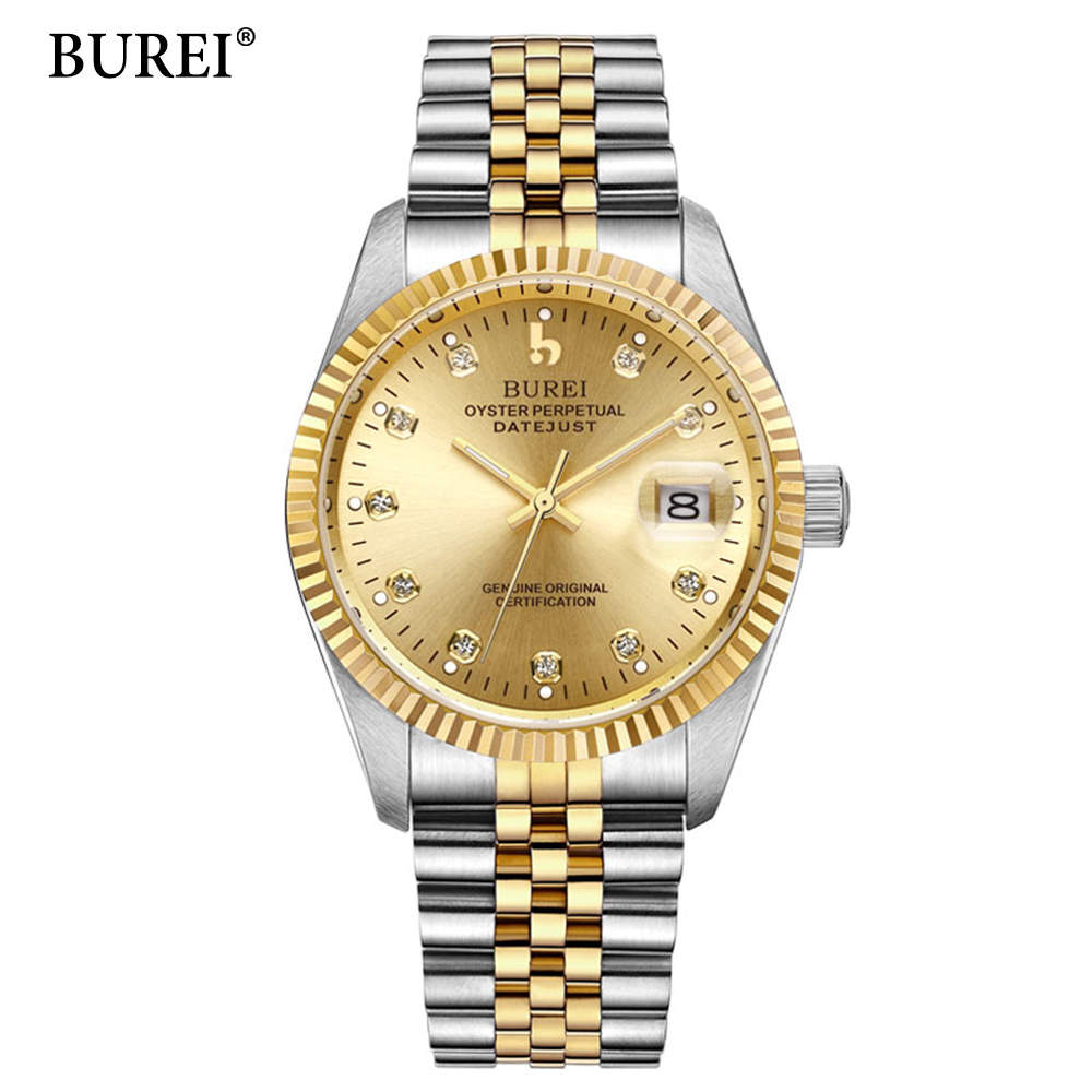 Mens watches Automatic Mechanical Watch Mens Stainless Steel Casual Business Wristwatch Relojes Hombre Top Brand BUREI Luxury luxury mens automatic mechanical watch men fashion casual business watches male stainless steel clock wristwatches reloj hombre