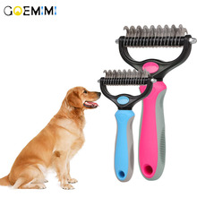 Hair Removal Comb for Dogs Cat Detangler Fur Trimming Dematting Deshedding Brush Grooming Tool For matted Long Hair Curly Pet pet hair deshedding dog cat brush comb sticky hair gloves hair fur cleaning for sofa bed clothe pets dogs cats cleaning tools