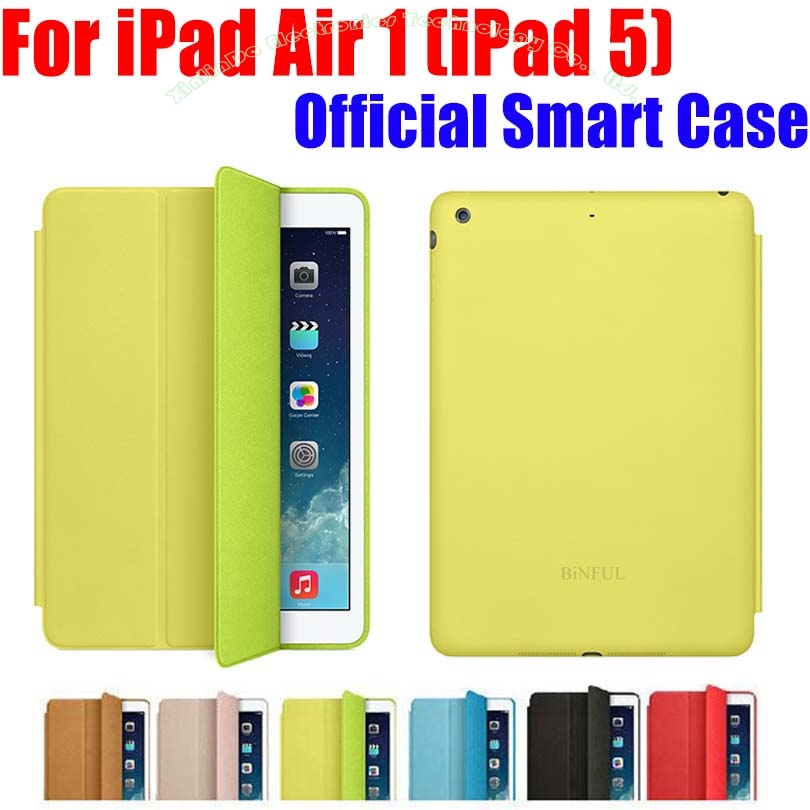 Brand New Official Design Fashion PU Leather Smart Case For Apple iPad Air iPad5 Ultra thin Filp Cover Case +Screen Film NO I515 for ipad air 2 air 1 case ultra thin slim pu leather silicone soft back smart cover case for apple ipad air ipad 5 6 coque