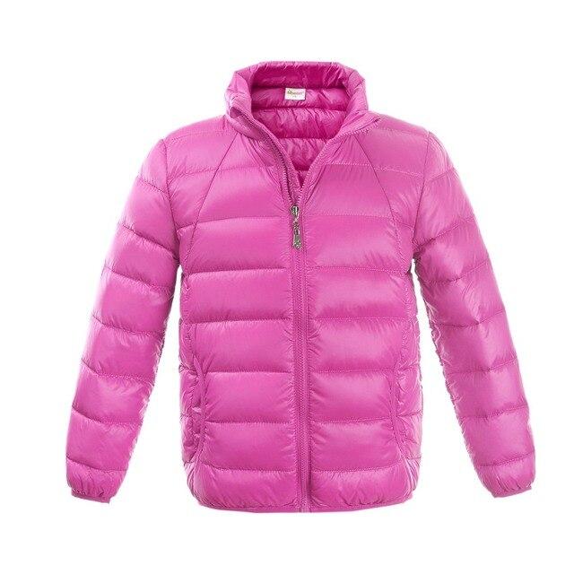 Пуховик Невероятно легкий удобный дышащий Простой дизайн Моды HIHEART мальчик и девочка Снег одежда