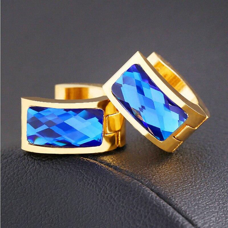 Vintage Crystal Stud Earrings Gold Color Women Gift Sale Fashion Jewelry Basketball Wives Round Fancy Hoop Earrings