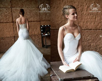 2016 Mermaid Wedding Dresses Spaghetti Straps Vestido De Casamento Ivory Bridal Dress Shopping Sales Online Wedding